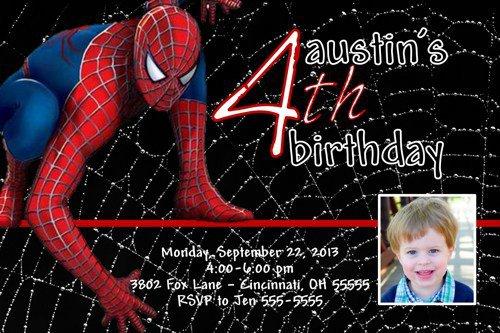 Spiderman Birthday Invitations Free Download