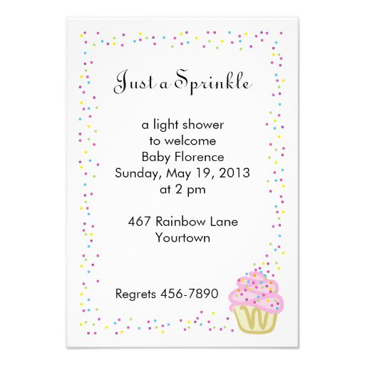 Sprinkle Baby Shower Invitations Templates