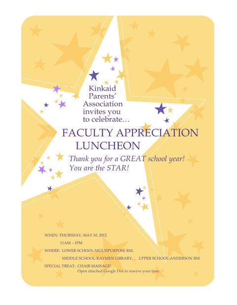 Staff Appreciation Invitation Template