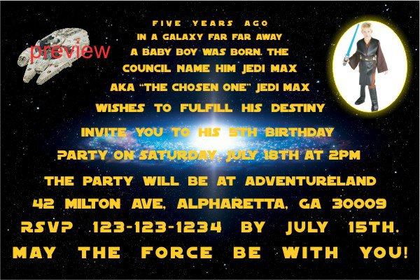 Star Wars Invitations Free Printable with perfect invitations ideas