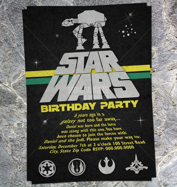 printable star wars birthday invitations Intoanysearchco