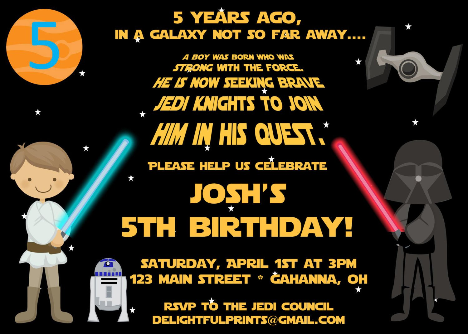 Star Wars Invitation Templates