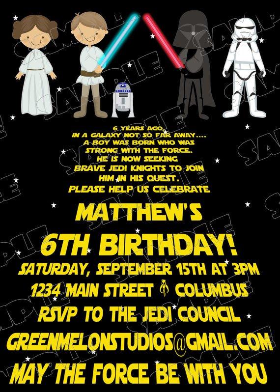 Star Wars Invitation Templates