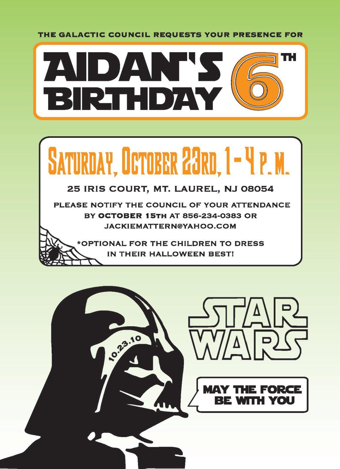 Star Wars Invitation Templates Free