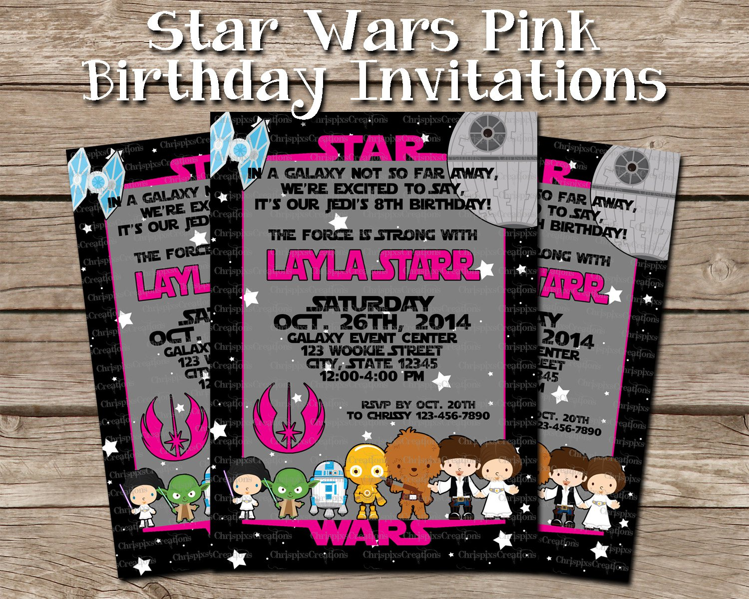 Star Wars Invitations For Girls