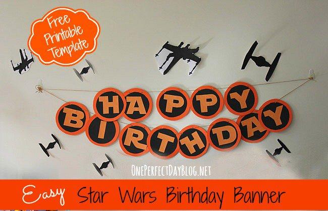 Star Wars Printable Birthday Banner