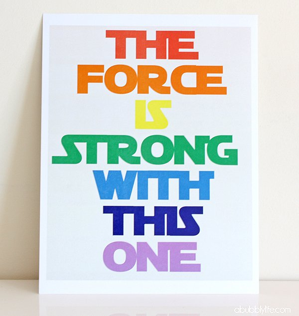 Star Wars Printable Happy Birthday Banner
