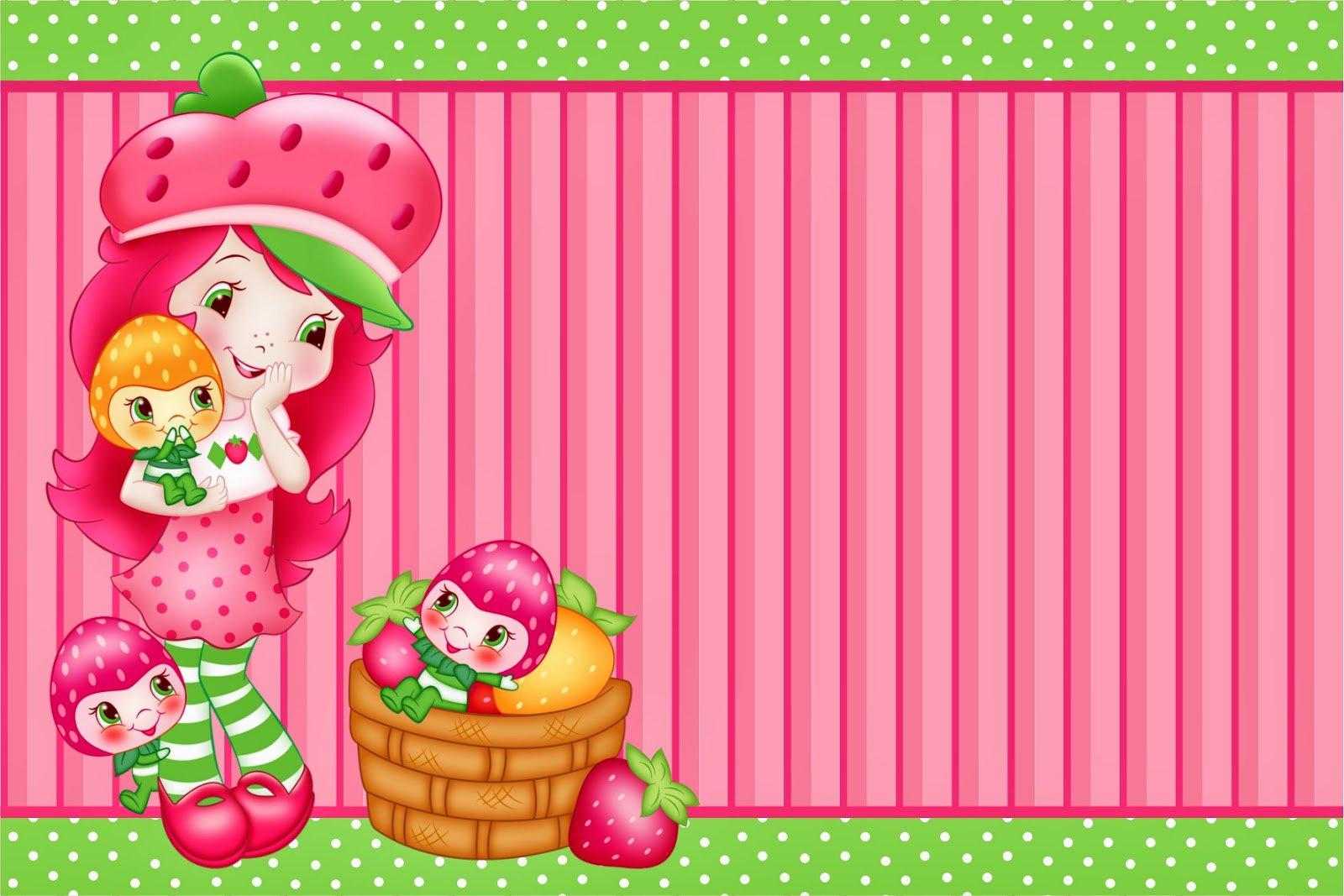 Strawberry Shortcake Printable Birthday Invitations