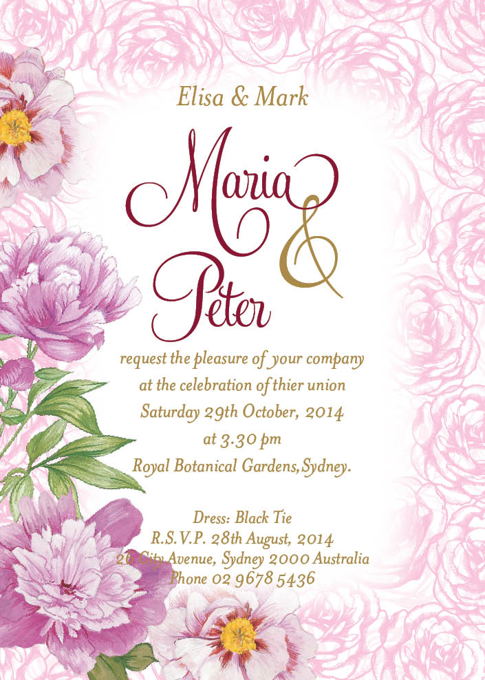 Summer Wedding Invitation Templates