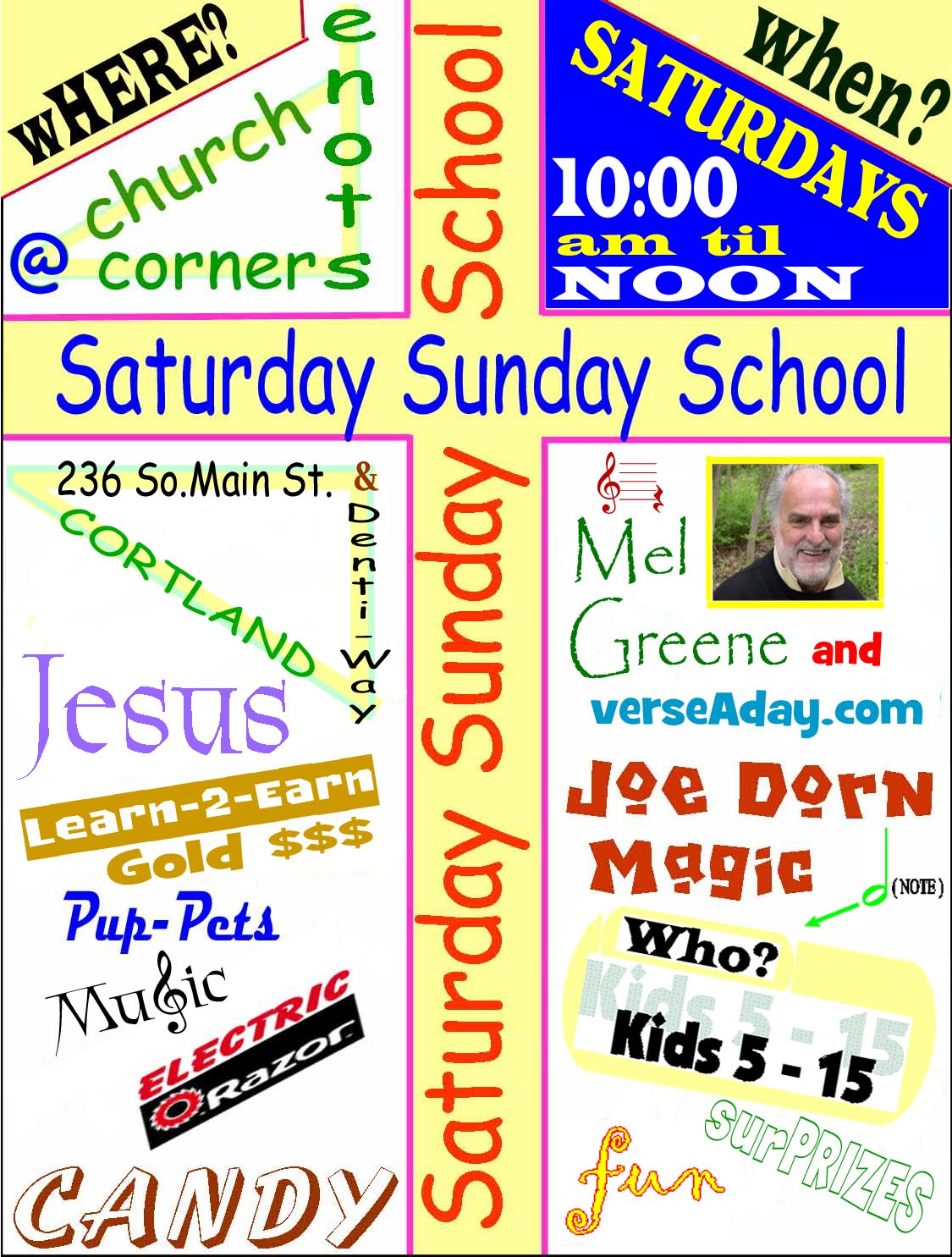 Sunday School Invitation Flyer Examples