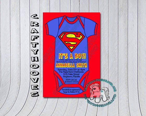 Superman Invitations To Print Out