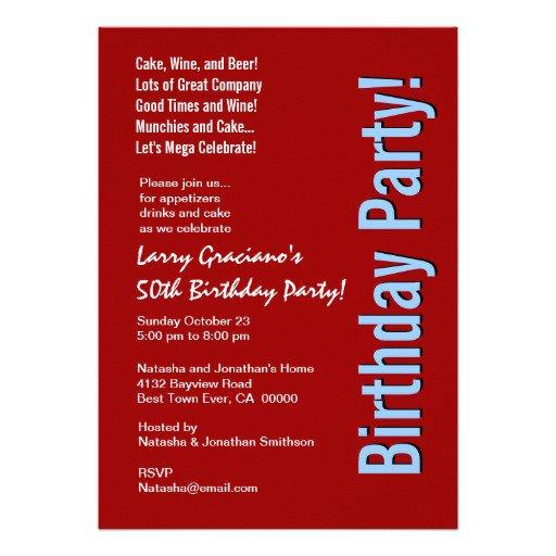 Surprise 50th Birthday Invitation Templates