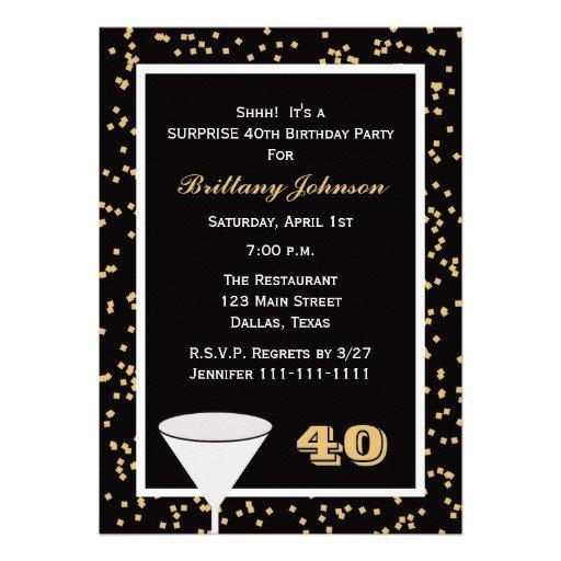 Surprise 50th Birthday Party Invitation Templates