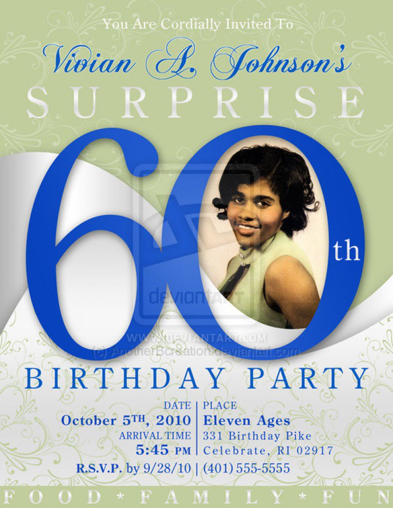 Surprise 60th Birthday Invitations Free