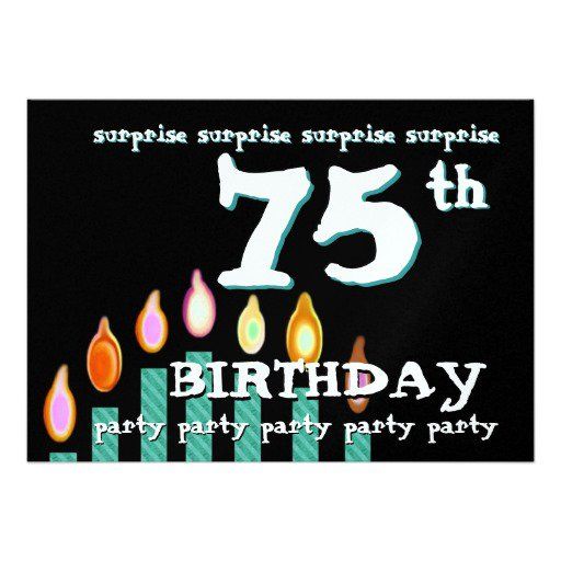 Surprise 75th Birthday Invitations