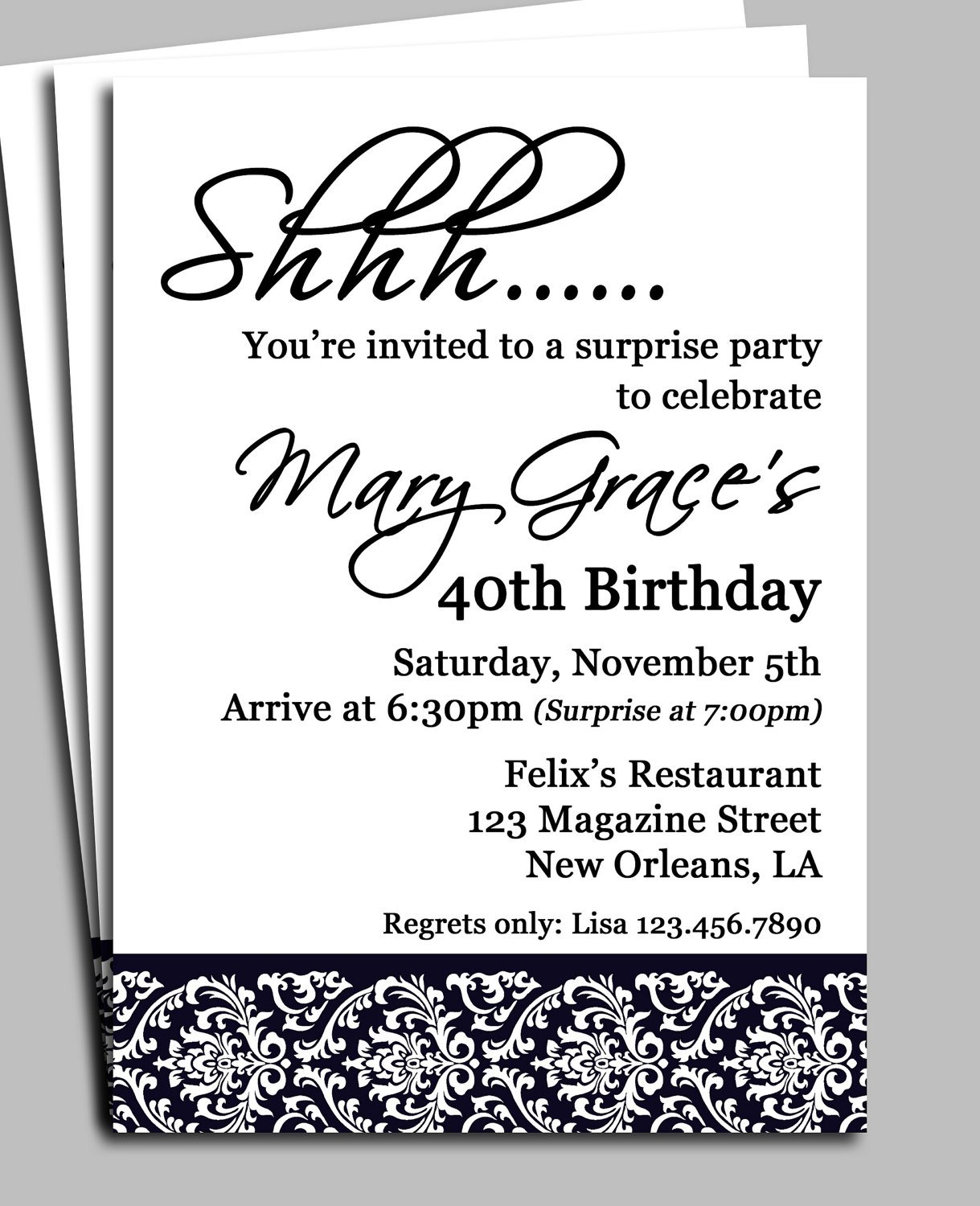 Surprise Anniversary Party Invitation Templates