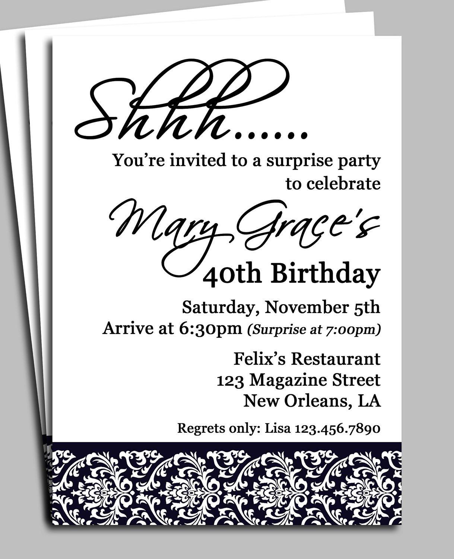 Surprise Anniversary Party Invitation Templates
