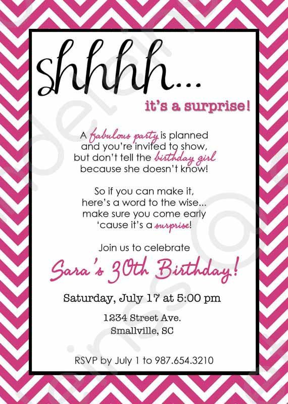 Surprise Birthday Party Invitation Templates Free