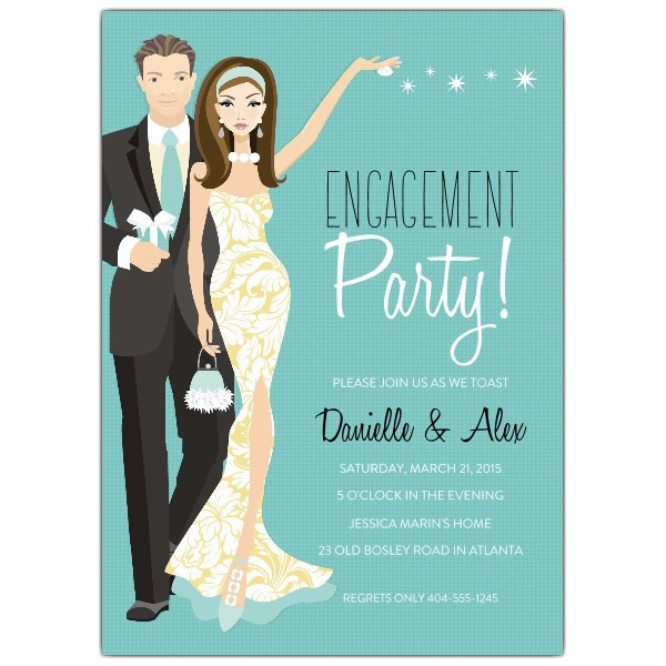 Surprise Engagement Party Invitations