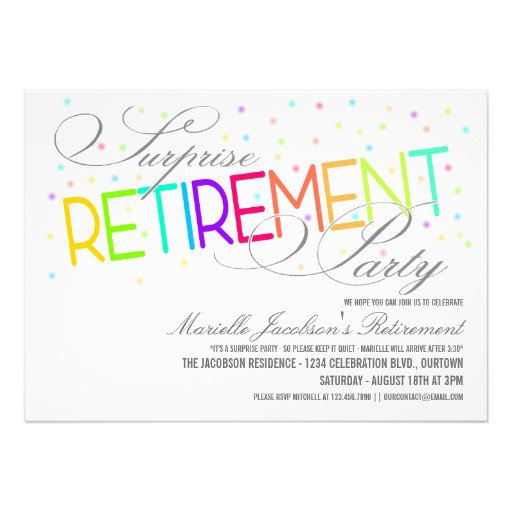 Surprise Retirement Party Invitations Wording