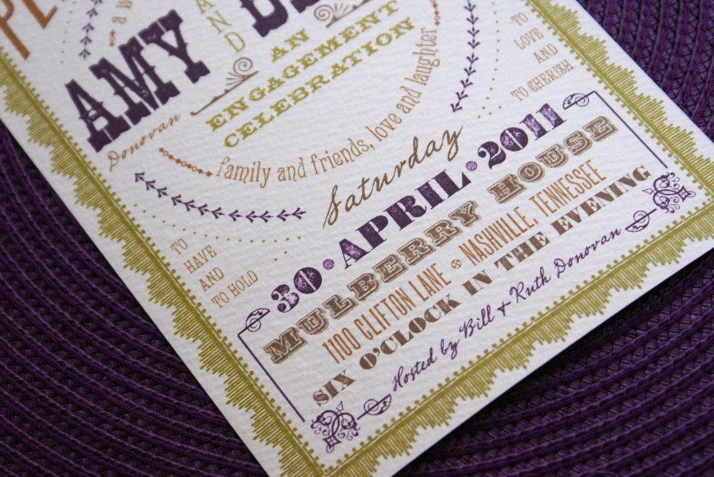 Surprise Wedding At Engagement Party Invitations