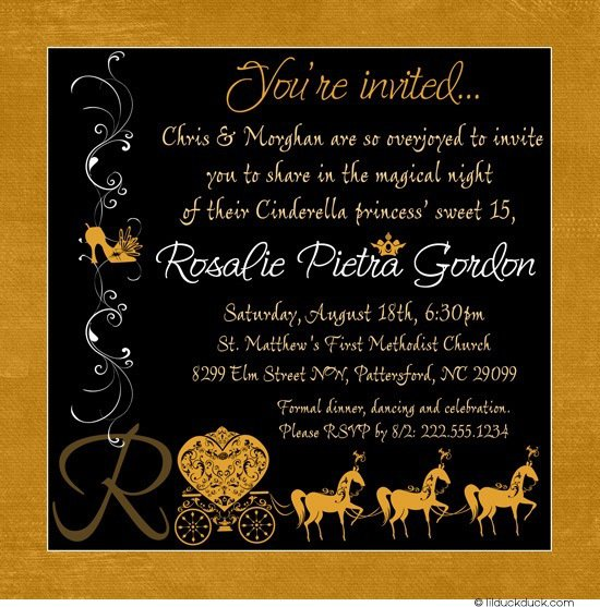 Sweet 15 Invitations Cards
