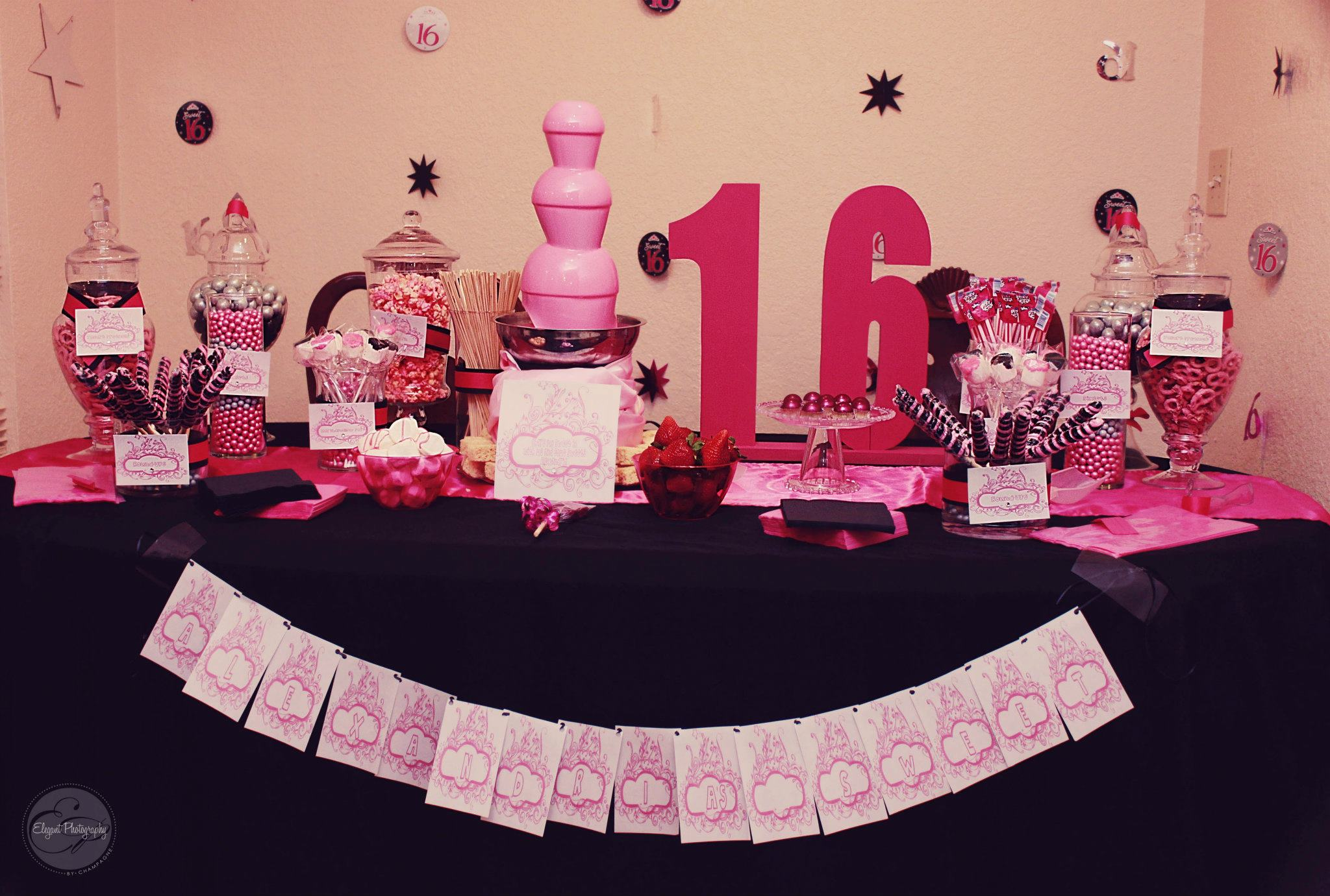 sweet sixteen candy buffet