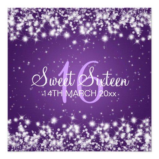 Sweet 16 Invitation Backgrounds