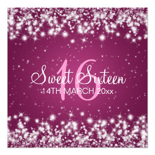Sweet Sixteen Invitation Backgrounds