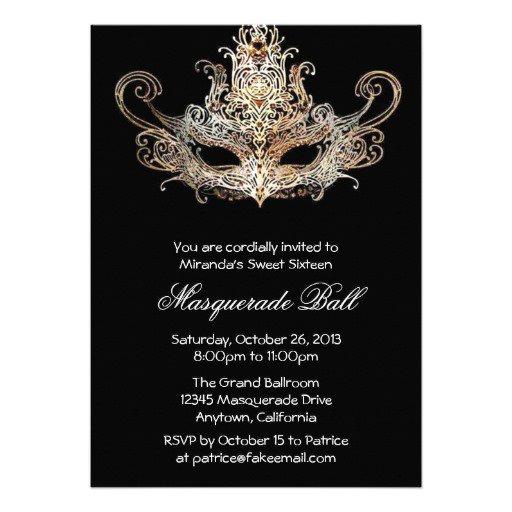 Sweet Sixteen Masquerade Invitations