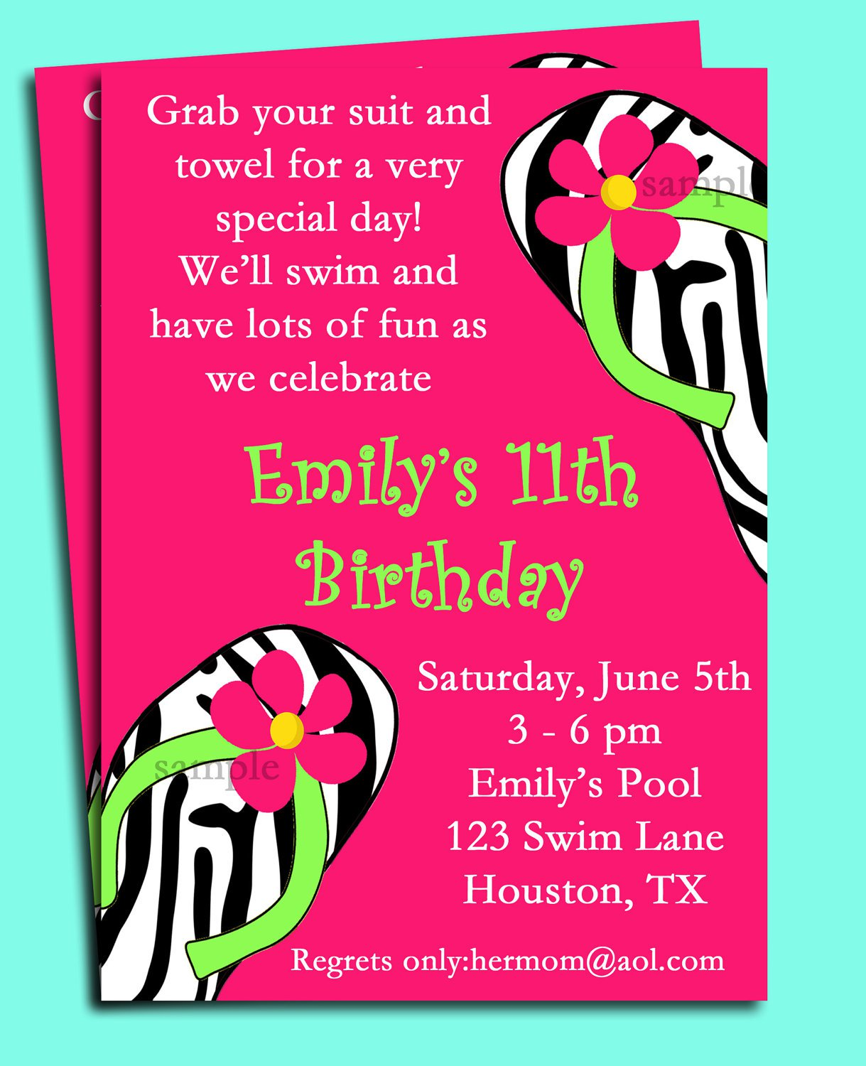 Swimming Pool Party Invitations Wording
