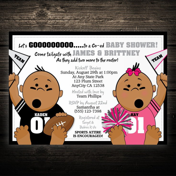 Tailgate Baby Shower Invitations