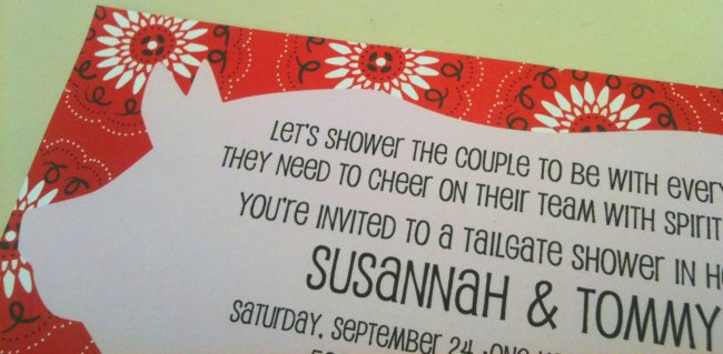 Tailgate Couples Shower Invitations