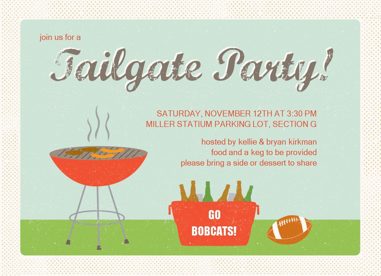 Tailgate Party Invitation Templates