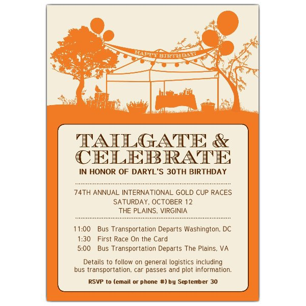 Tailgate Shower Invitations