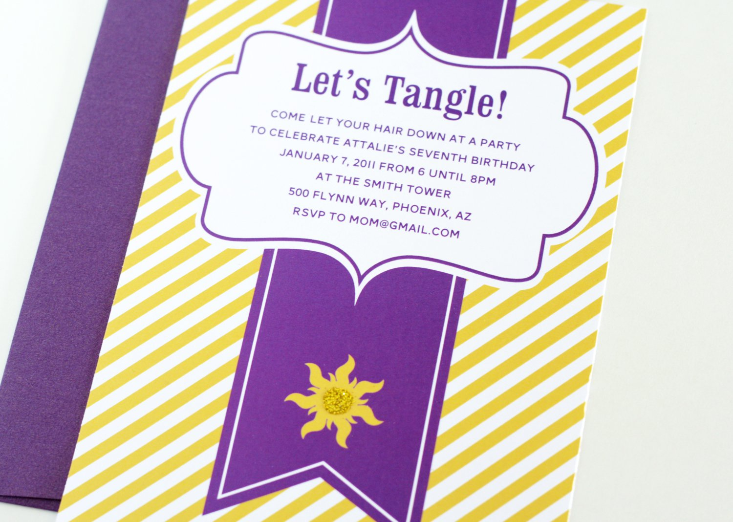 Tangled Birthday Party Invitation Template
