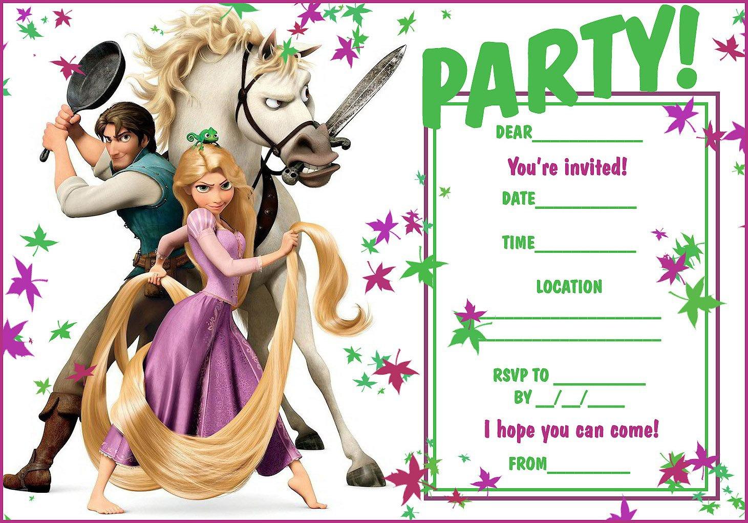 Tangled Party Invitation Templates