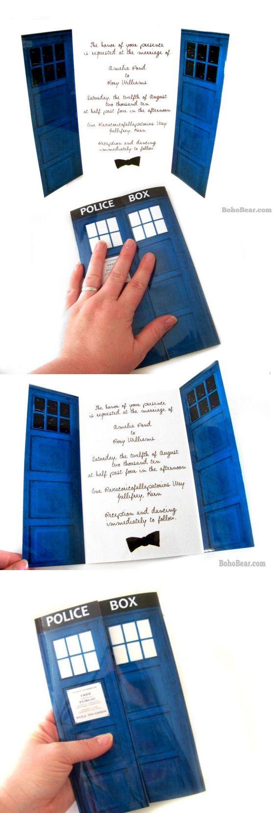 Tardis Blue Wedding Invitations