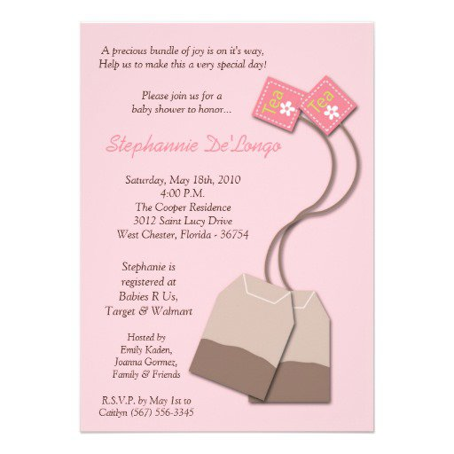 Tea Bag Invitations Templates