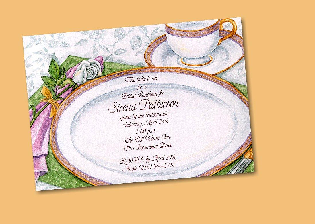 Tea Party Birthday Invitations Templates
