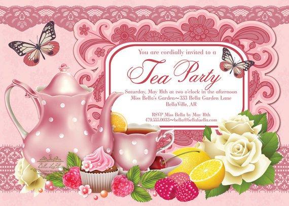 Party Birthday Party Invitations – Garden Birthday Party Invitations