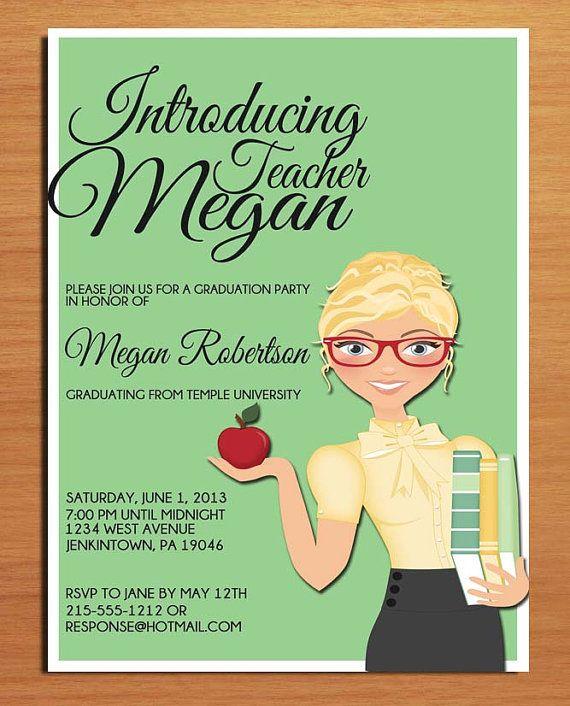 Teacher Graduation Party Invitation