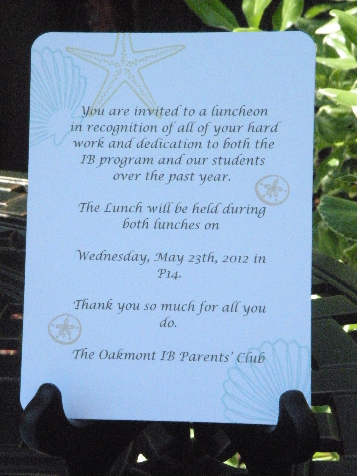 Teacher Luncheon Invitation Wording