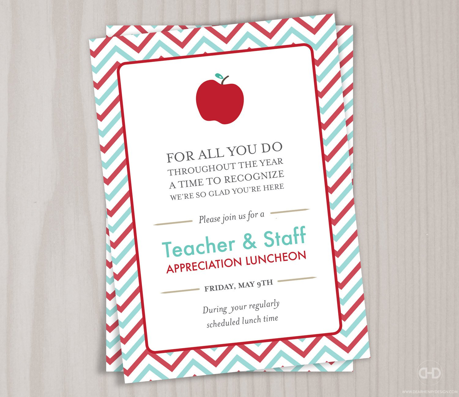 Teacher Party Invitation Wording