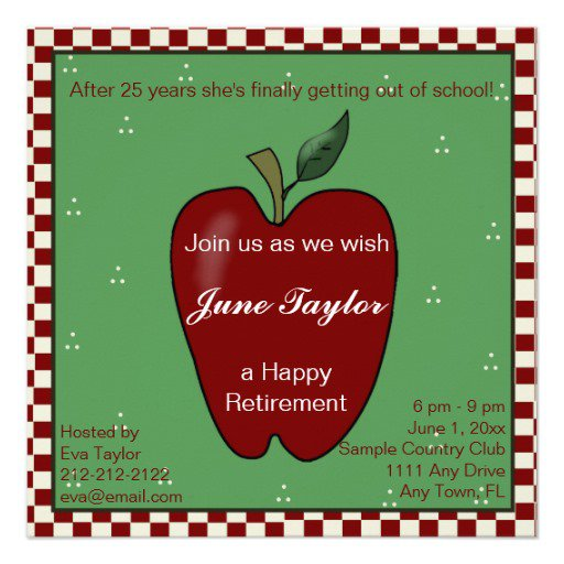 Teacher Retirement Party Invitations Free Printable
