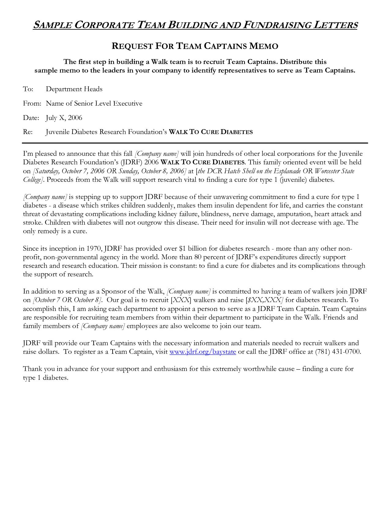 Team Building Invitation Sample Letter