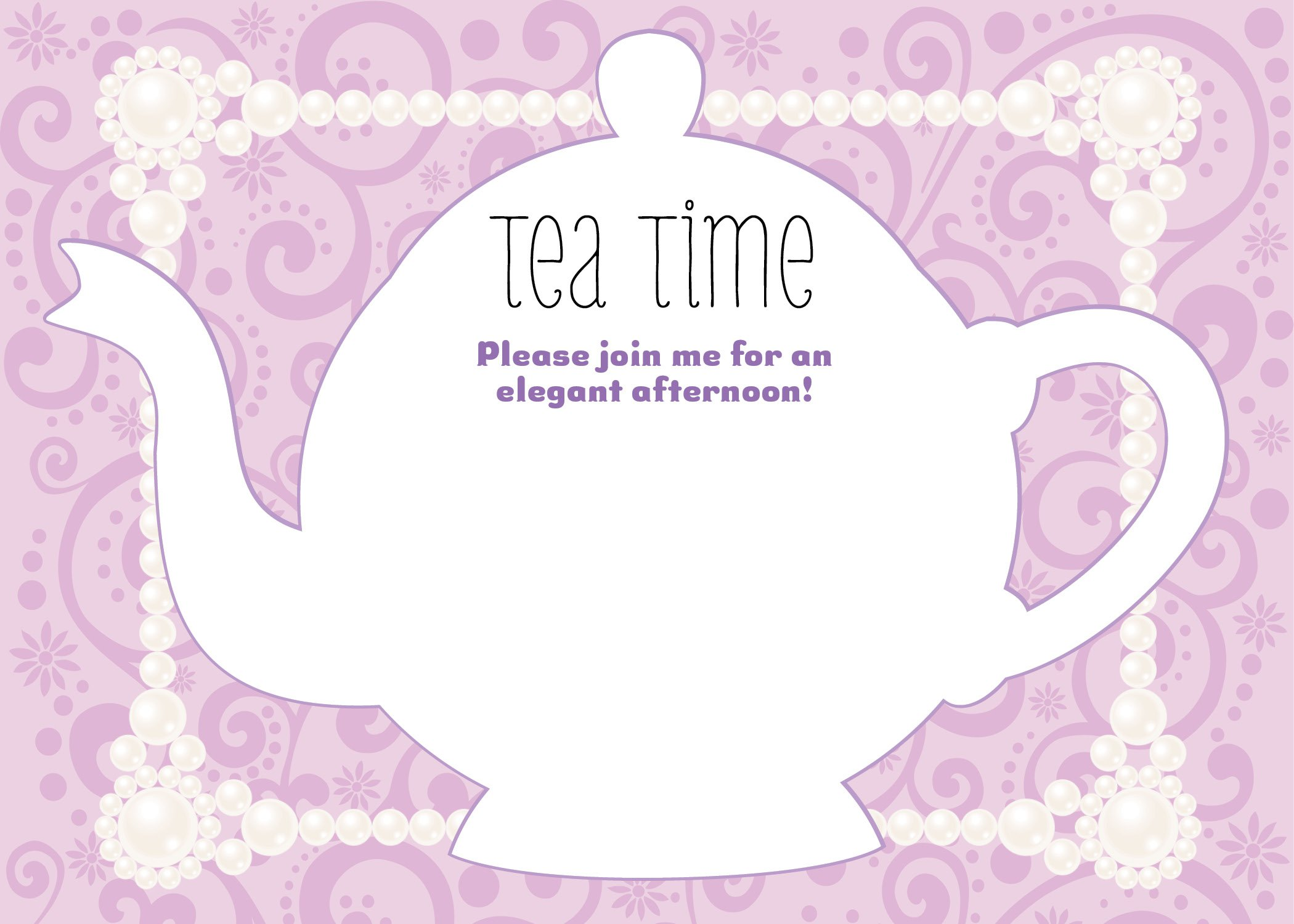 Teapot Party Invitations