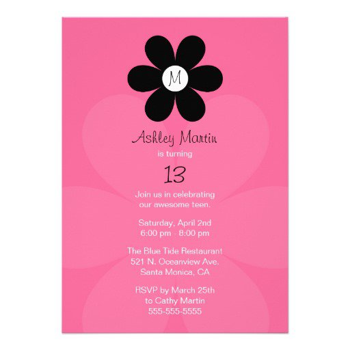 Teen Girl Invitations
