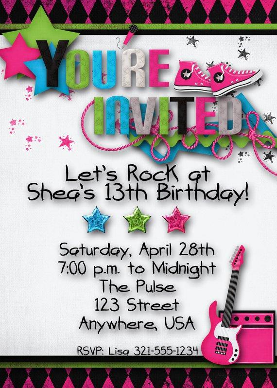 Teenage Invitation Ideas
