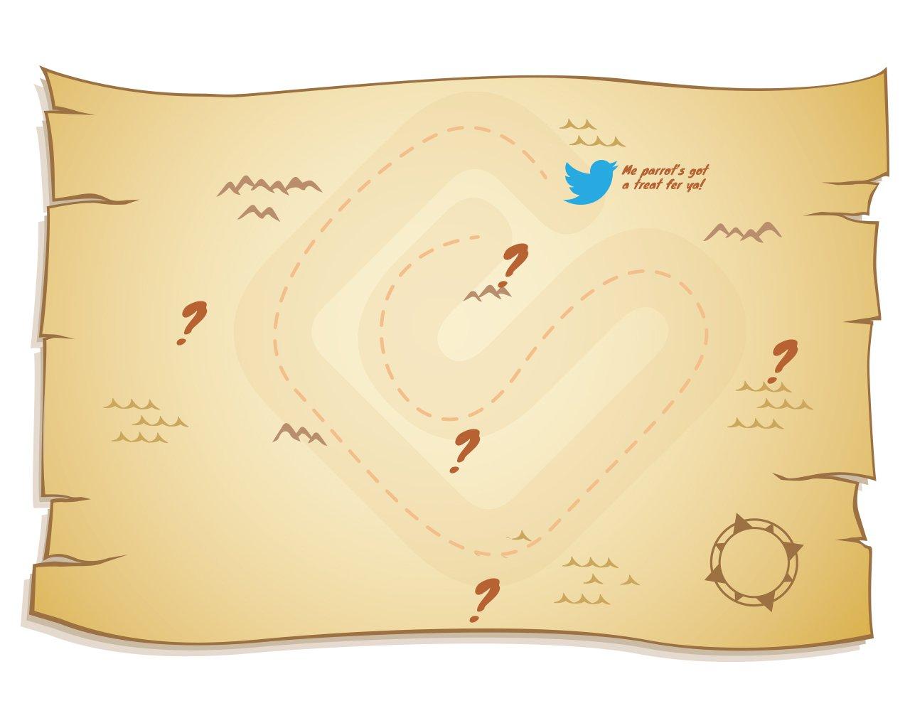 Template Pirate Treasure Map